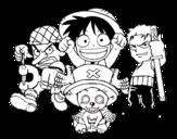 Dibujo de Personajes One Piece para colorear