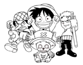 Dibujo de Personajes One Piece