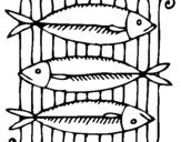 Dibujo de Pescado a la brasa para colorear