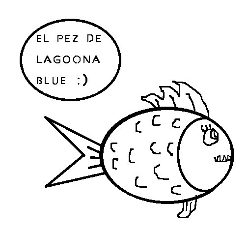 Dibujo de Pez de Lagoona Blue para Colorear