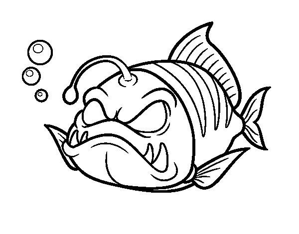 Dibujo de pez linterna para colorear for Immagini di pesci da disegnare
