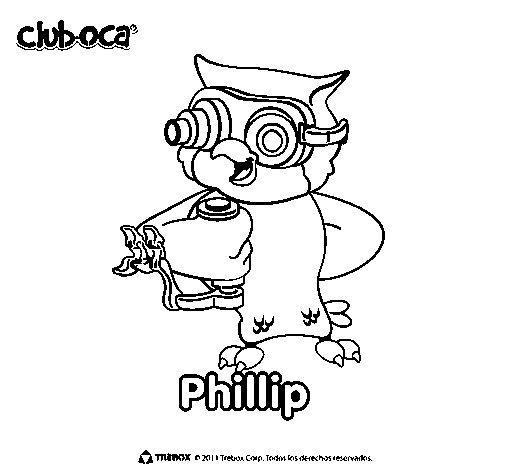 Dibujo de Philip para Colorear