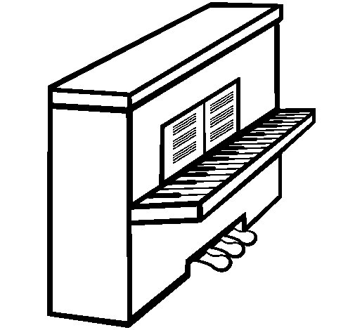 Dibujo de Piano para Colorear