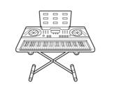 Dibujo de Piano sintetizador para colorear