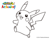 Dibujo de Pikachu en Pokémon Art Academy para colorear