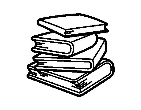 Dibujo de Pila de libros para Colorear