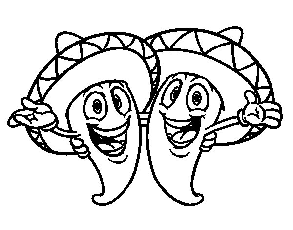 spanish food coloring pages photo12