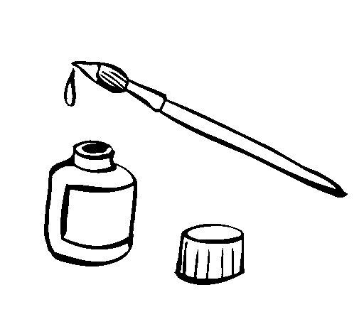 Dibujo de Pincel y tinta para Colorear