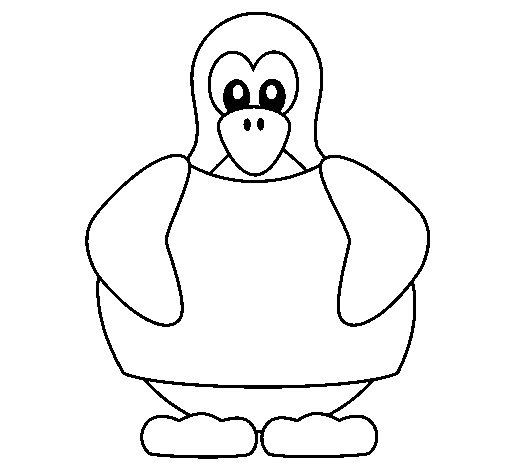 Dibujo de Pingüino 1 para Colorear