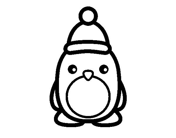 Dibujo de ping ino navide o para colorear for Dibujos de renos en navidad