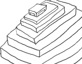 Dibujo de Pirámide maya
