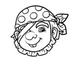 Dibujo de Pirata raso para colorear