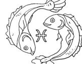 Dibujo de Piscis para colorear