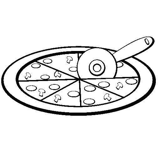 Dibujo de Pizza para Colorear  Dibujosnet