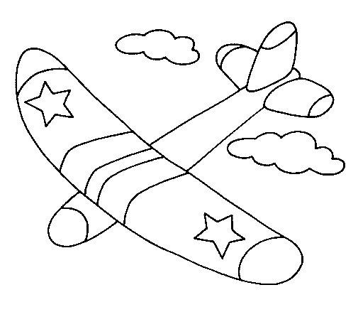 Dibujo de Planeador para Colorear