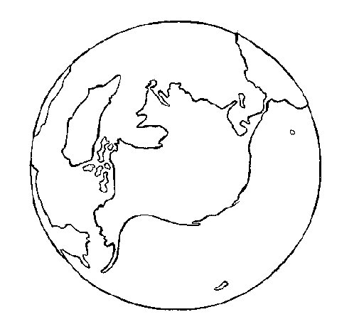Dibujo de Planeta Tierra para Colorear
