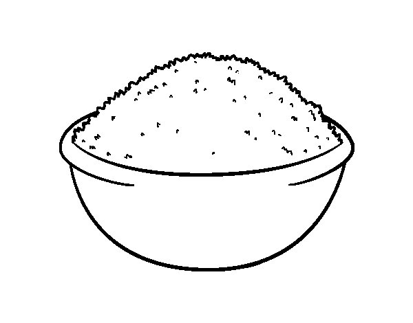 Dibujo de Plato de arroz para Colorear
