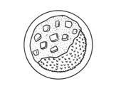 Dibujo de Plato de arroz con salsa para colorear