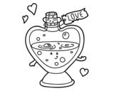 Dibujo de Pócima de amor para colorear