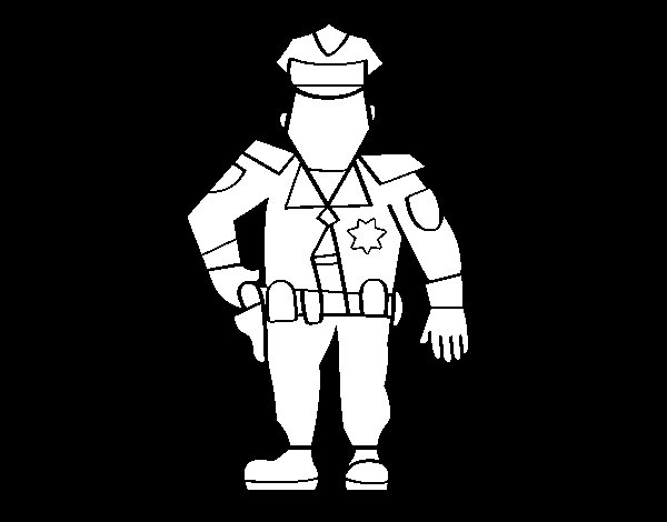 Dibujo de Policía Municipal para Colorear