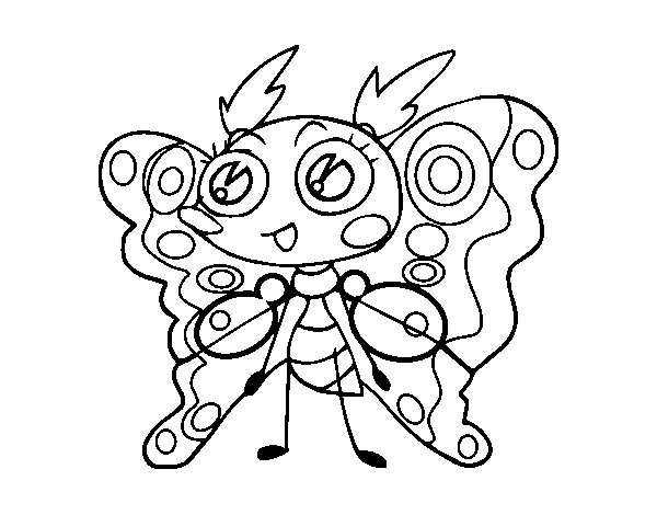 150 Dibujos De Pokemon Para Colorear: Dibujo De Polilla Para Colorear