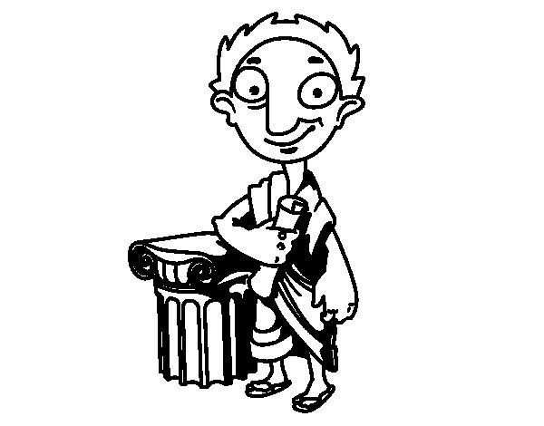 Dibujo de Político griego para Colorear