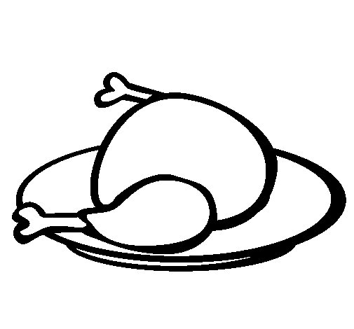 Dibujo de Pollo para Colorear  Dibujosnet