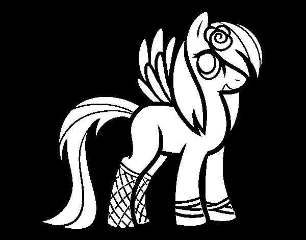 Dibujo de Poni con alas para Colorear
