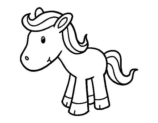 Dibujo de Poni feliz para Colorear  Dibujosnet