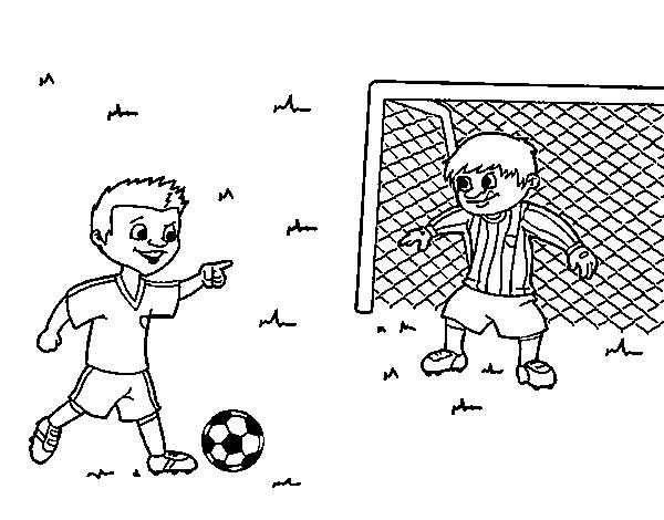 Dibujo de Portero de ftbol para Colorear  Dibujosnet