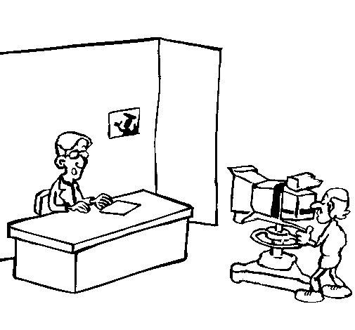 Dibujo de Presentador de televisión para Colorear
