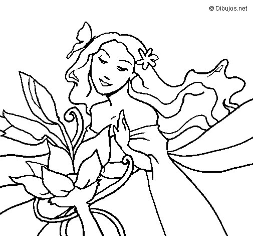 Dibujo de Primavera para Colorear