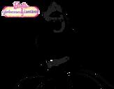 Dibujo de Princesa cantante para colorear