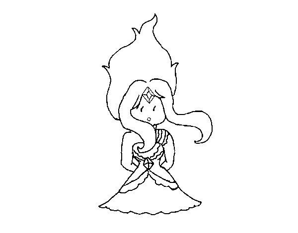 Dibujo de Princesa Chicle diamante para Colorear