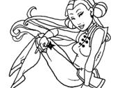 Dibujo de Princesa ninja para colorear