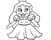 Dibujo de Princesa pequeña para colorear