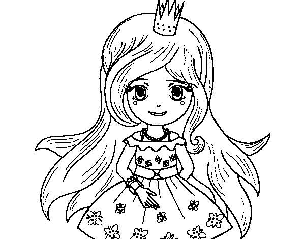 Dibujo de Princesa primavera para Colorear  Dibujosnet