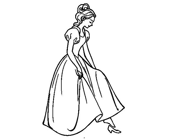 Dibujo De Princesa Y Zapato Para Colorear