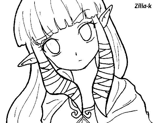 Dibujo de Princesa Zelda para Colorear - Dibujos.net