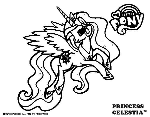 Dibujo de Princess Celestia para Colorear