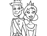 Dibujo de Príncipe y princesa para colorear
