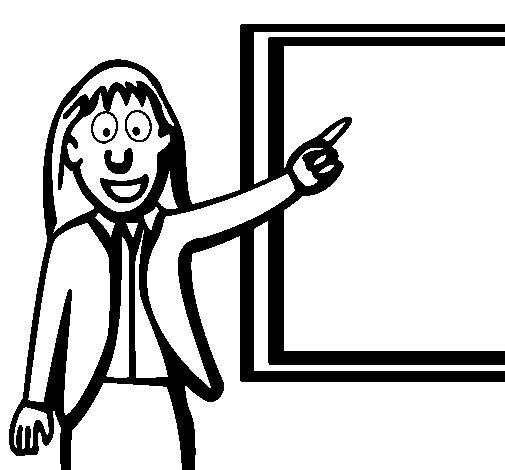 Dibujo de Profesora para Colorear