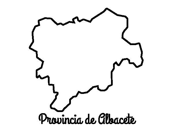 Dibujo de Provincia de Albacete para Colorear