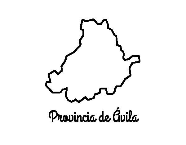 Dibujo de Provincia de Ávila para Colorear