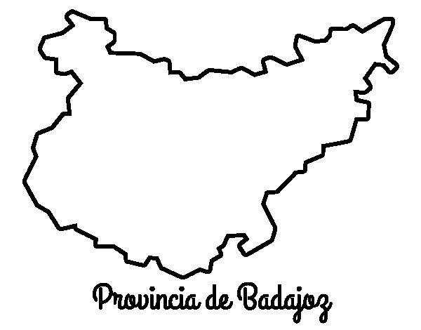 Merida Para Colorear: Dibujo De Provincia De Badajoz Para Colorear