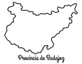 Dibujo de Provincia de Badajoz para colorear
