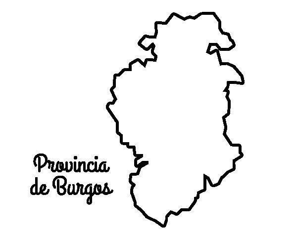 Dibujo de Provincia de Burgos para Colorear
