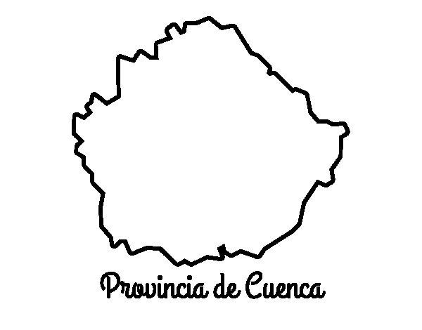 Dibujo de Provincia de Cuenca para Colorear