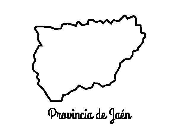 Dibujo de Provincia de Jaén para Colorear