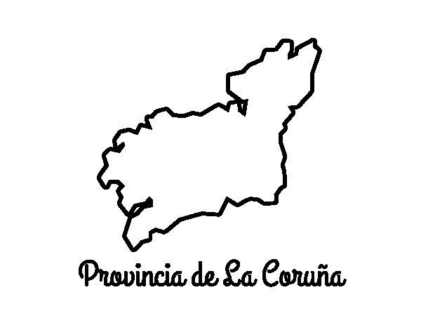 Dibujo de Provincia de La Coruña para Colorear